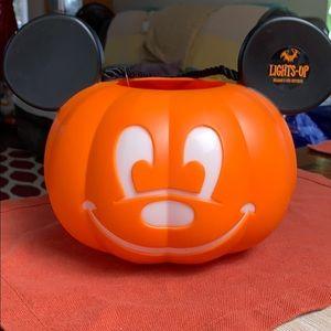 Mickey Pumpkin  Light Up Trick or Treat Bucket